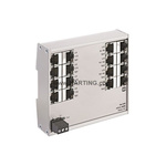 HARTING Industrial Hub, 16 RJ45 port, 48V dc, 100Mbit/s Transmission Speed, DIN Rail Mount Ha-VIS eCon 2000, 16 Port