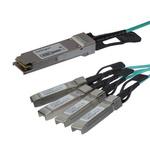 Startech, Cisco QSFP4X10AO15 Compatible SFP QSFP+ breakout cable Module