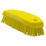 Vikan Yellow 20mm Polyester Medium Scrubbing Brush for Multipurpose Cleaning