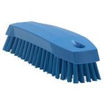Vikan Blue 20mm Polyester Medium Scrubbing Brush for Multipurpose Cleaning