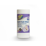 Zep Wet Anti-Bacterial Wipes for Cleaning Use, Dispenser Box of 100