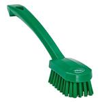 Vikan Green 22mm PET Medium Scrubbing Brush for Multipurpose Cleaning