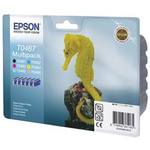 Epson T0487 Black, Cyan, Light Cyan, Light Magenta, Magenta, Yellow Ink Cartridge