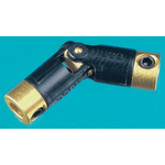 Huco Universal Joint 103.13.2224, Single, Plain, Bore 6 mm x 1/4 in, 46.2mm Length