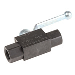 Parker Phosphated Steel Line Mounting Hydraulic Ball Valve, KH1/4CFX G 1/4