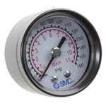 "Pressure gauge 40mm x 1/8"" backmount"