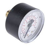 Pressure,gauge,R1/4,0-10bar,50mm dia,centre back connection