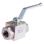 RS PRO Zinc Passivated Steel Line Mounting Hydraulic Ball Valve G 1