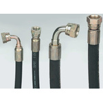 527mm Synthetic Rubber Hydraulic Hose Assembly, 215 bar Max Pressure