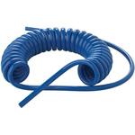 CEJN Coil Tube 8mm Diameter, 4m Long Blue PUR 10 bar