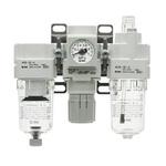 SMC G 3/8 Filter Regulator Lubricator, 5μm Filtration Size
