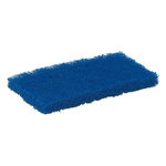Vikan Blue Scourer 245mm x 115mm x 25mm, for Industrial Cleaning Use