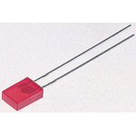 1.8 V Red LED Rectangular Through Hole, Broadcom HLMP-S100
