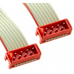 TE Connectivity Micro-Match Ribbon Cable Assembly, Micro-Match MOW Plug to Micro-Match MOW Plug, 150.5mm
