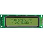 Displaytech 202A-BA-BC Alphanumeric LCD Display, Yellow on Green, 2 Rows by 20 Characters, Reflective