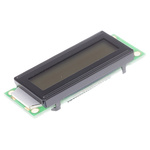 Batron BTHQ21603V-FSTF-LED WHITE BTHQ Alphanumeric LCD Display, Black on White, 2 Rows by 16 Characters, Transflective