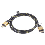 Roline HDMI Ethernet to HDMI Ethernet Cable, Male to Male- 1m