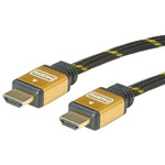 Roline HDMI Ethernet to HDMI Ethernet Cable, Male to Male- 20m