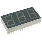 BC56-13CGKWA Kingbright 3 Digit 7-Segment LED Display, CC Green 35 mcd RH DP 14.2mm