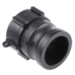 Straight Male Hose Coupling 2in Female Threaded to Male Cam, 2 in Female, PP