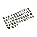 RS PRO Black Lettering Label, 30mm