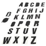 RS PRO Black Lettering Label, 50mm