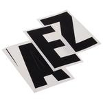RS PRO Black Lettering Label, 75mm