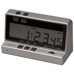 RS PRO Silver Combination Clock/Timer/Stopwatch UKAS