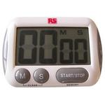RS PRO Digital Desktop Timer RSCAL White