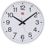 RS PRO White Wall Clock, 435mm