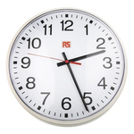 RS PRO White Wall Clock, 320mm