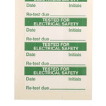 RS PRO Adhesive Pre-Printed Adhesive Label-Tested For Electrical Safety-. Quantity: 140