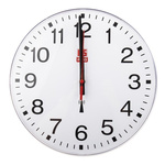 RS PRO Radio Controlled White Wall Clock, 300mm