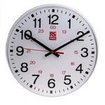 RS PRO White Wall Clock, 300mm
