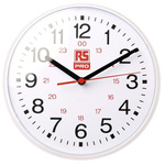 RS PRO White Wall Clock, 215mm