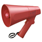 TOA Red Hand Grip Megaphone, ER-520S, 6 W, Siren