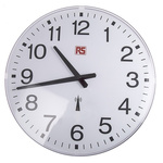 RS PRO Radio Controlled White Wall Clock, 420mm