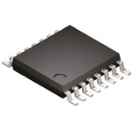 Analog Devices, DAC Quad 12 bit-, 125ksps, ±0.07%FSR Serial (SPI), 16-Pin TSSOP