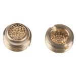 Legris 0677 Brass 12bar Pneumatic Silencer, Threaded, G 1/8 Male