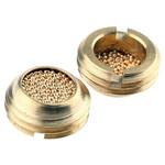 Legris 0677 Brass 12bar Pneumatic Silencer, Threaded, G 1/4 Male