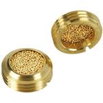 Legris 0677 Brass 12bar Pneumatic Silencer, Threaded, G 3/8 Male