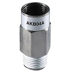 SMC AKB Check Valve NPT 1/8 Male Inlet, NPT 1/8 Female Outlet, -100 kPa to 1 MPa