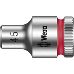 Wera 4.5mm Hex Socket With 1/4 in Drive , Length 23 mm