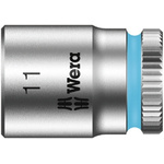 Wera 11mm Hex Socket With 1/4 in Drive , Length 23 mm