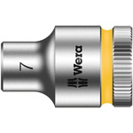 Wera 7mm Hex Socket With 3/8 in Drive , Length 29 mm