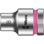 Wera 8mm Hex Socket With 3/8 in Drive , Length 29 mm