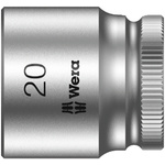 Wera 20mm Hex Socket With 3/8 in Drive , Length 30 mm