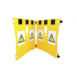 Addgards Yellow Barrier & Stanchion, Extendable Barrier Kit includes: Kit incl.Various