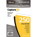 Fellowes A4 Glossy Lamination Pouch 125micron, 250