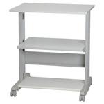 RS PRO 3 Shelf Printer Stand, 30kg Max. Load